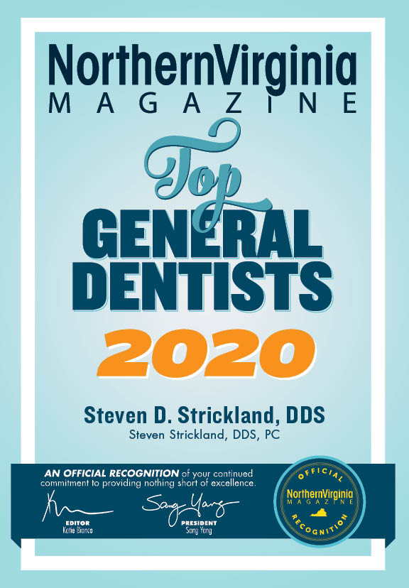 northern virginia magazine top 100 general dentists 2017 award